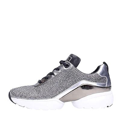352f475cb4f63 Michael Kors Sneaker JADA Trainer Glitter Chain MESH BLK Silver Taglia 36 -  Colore Argento