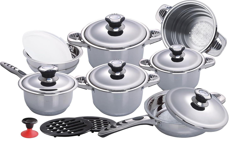 DB de cocina (16 piezas Juego de olla de acero de Juego Juego de cazuelas ollas: Amazon.es: Hogar