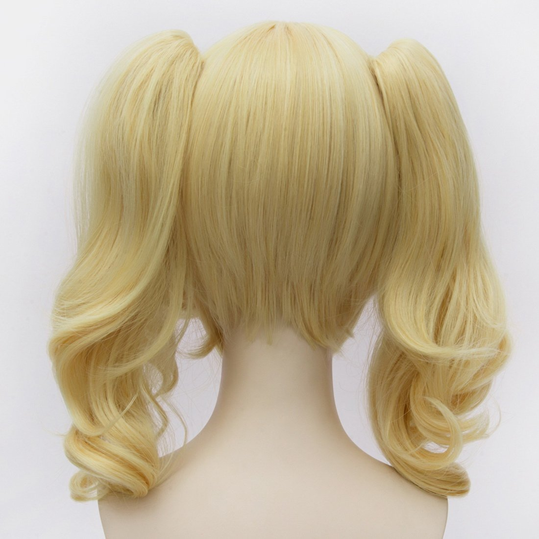 Amazon.com : Coolsky Batman Harley Quinn Women Long Blonde Lolita Curly Anime Cosplay Double Pongtails Wigs : Beauty