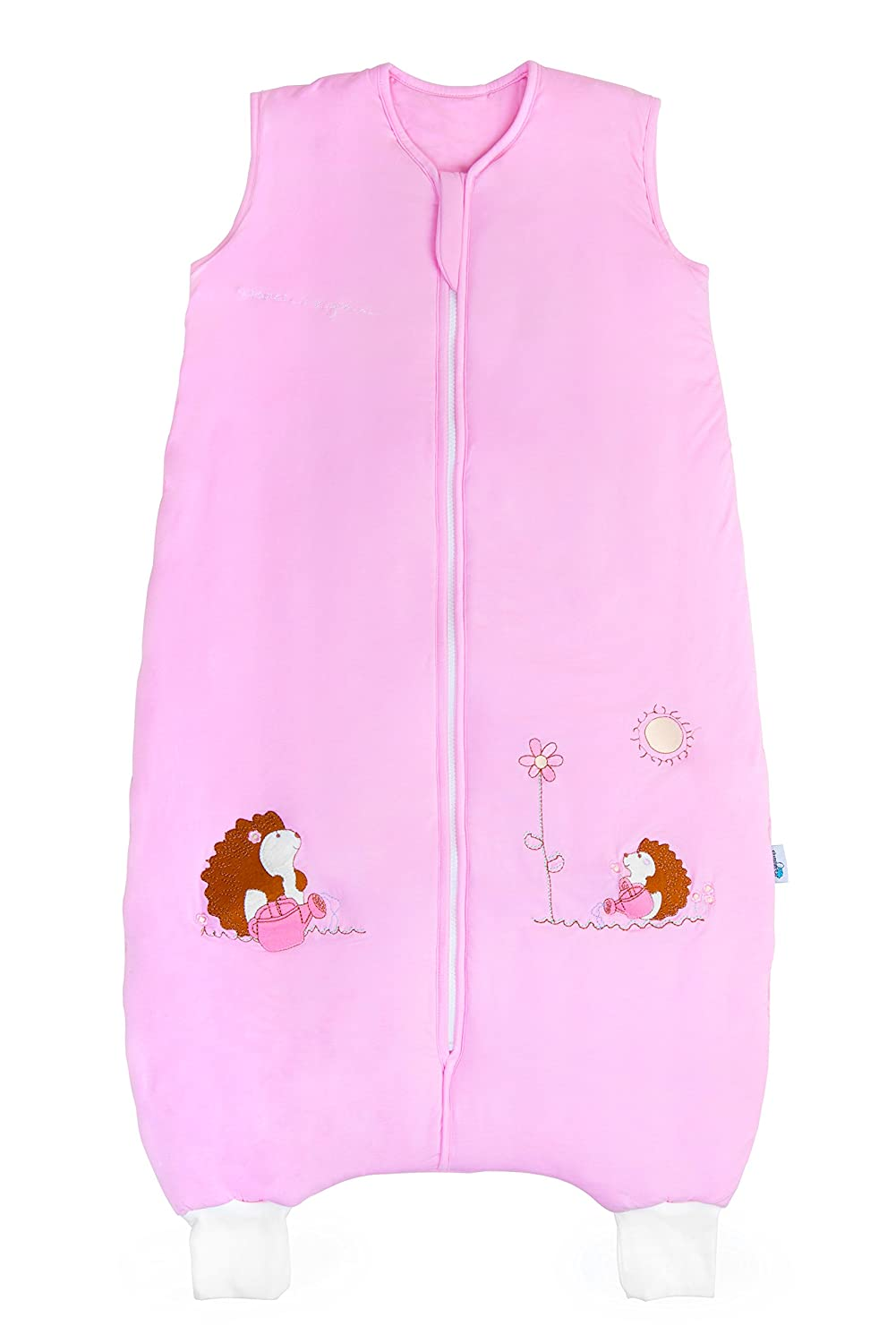 Slumbersac Bamboo Toddler Summer Sleeping Bag with Feet approx. 1 Tog - Pink Hedgehog - 24-36 months