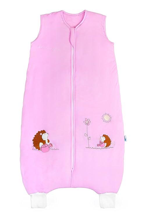 color rosa bamb/ú, con pies, ligeramente forrado, 1 tog, 3-4 a/ños, 110 cm Slumbersac dise/ño de erizo Saco de dormir infantil