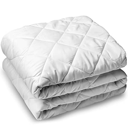 Amazon Com Bare Home Quilted Fitted Mattress Pad Cooling Mattress
