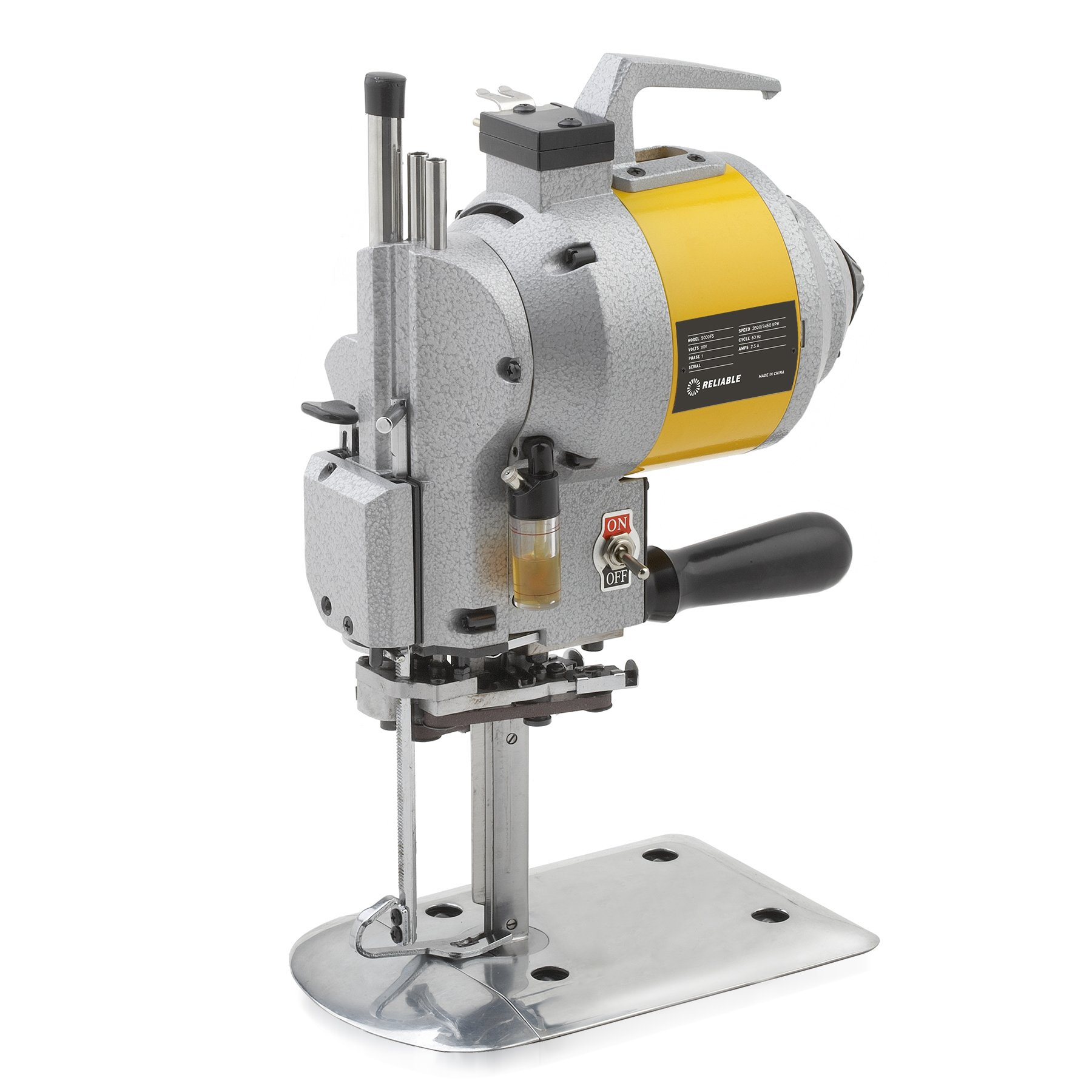 Reliable 5000FS 5-Inch High-Speed Straight-Knife Cloth-Cutting Machine