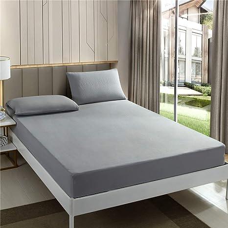 Blanc EUSIX Drap-housse 90x190x30CM avec poche de profondeur 30CM Drap de lit super doux en polycoton extra profond Pas de taies doreiller