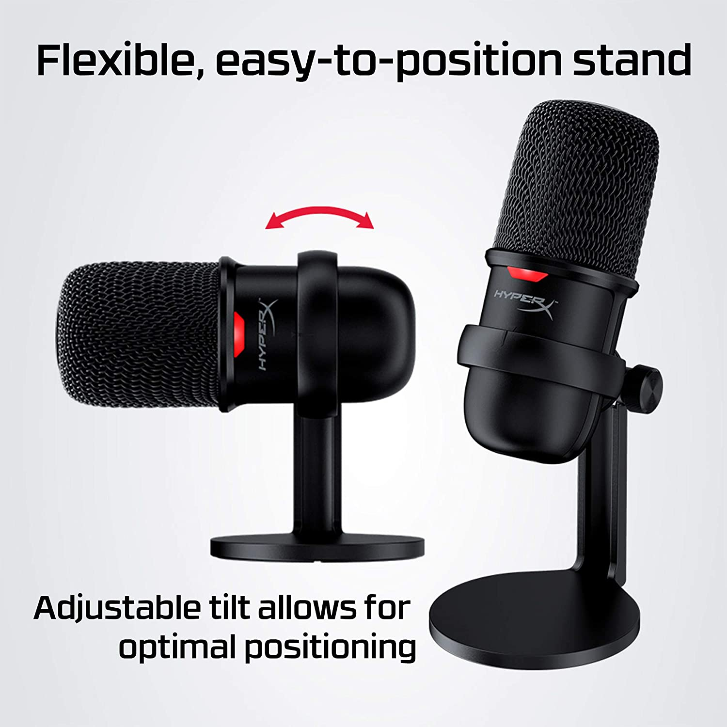 Twitch Podcasts Tap-to-Mute Sensor HyperX SoloCast and Mac Cardioid Polar Pattern YouTube Streaming PS4 for PC Discord USB Condenser Gaming Microphone Gaming