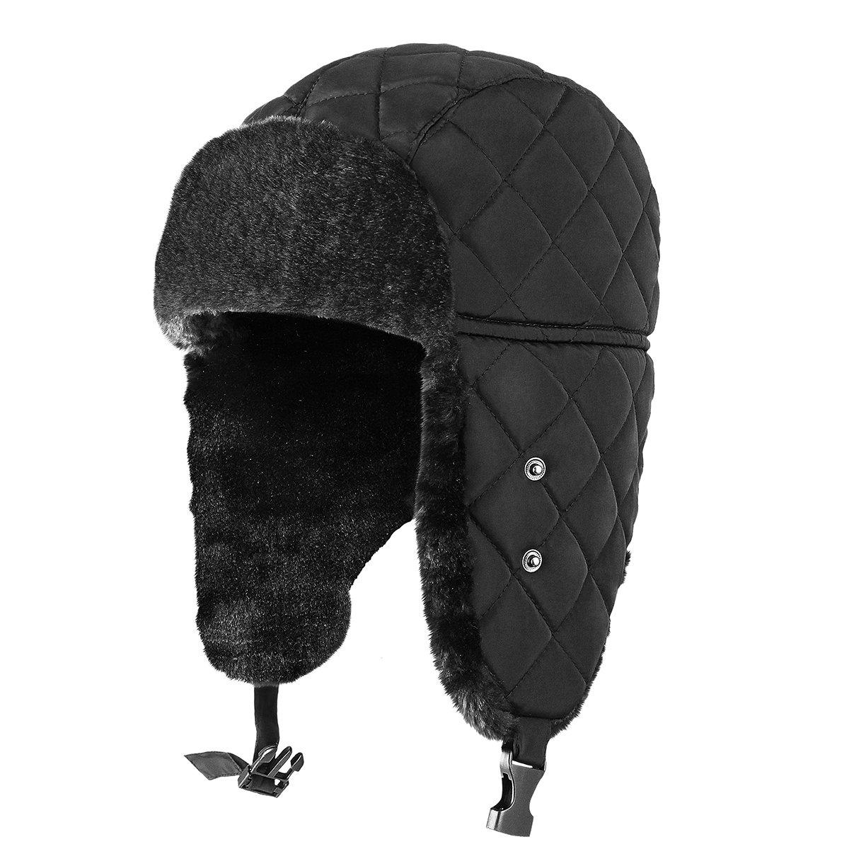 Amazon.com   OMECHY Unisex Winter Trooper Trapper Hat Hunting Hat Ushanka  Ear Flap Chin Strap with Windproof Mask Russian Style Ear Flap Hat for Men  Women e019b626b9e7