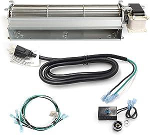 Hongso 17Y-New BK GA3650 GA3650B GA3700 GA3700A GA3750 GA3750A Replacement Fireplace Blower Fan KIT for Desa, FMI, Vanguard, Vexar, Comfort Flame Glow, Rotom