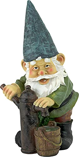 Garden Gnome Statue – Water Pump Pete Garden Gnome – Lawn Gnome