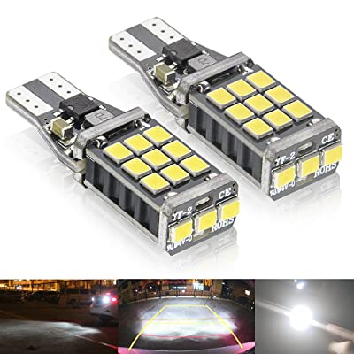 Rayhoo 1100 lumens Extremely Bright 921 912 LED Backup Light Bulbs Canbus Error Free T15 906 W16W socket 21pcs 3020PX Chipsets, Only For Backup Reverse Lights, Xenon White 6000K, 2pcs: Automotive