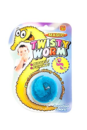 magic twisty wiggly worm toy stocking filler bright colour blue