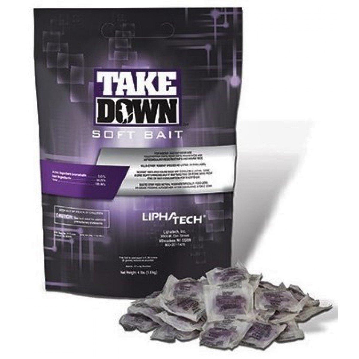 TakeDown Soft Bait Rodenticide 4 lb BAG by Lipha Tech