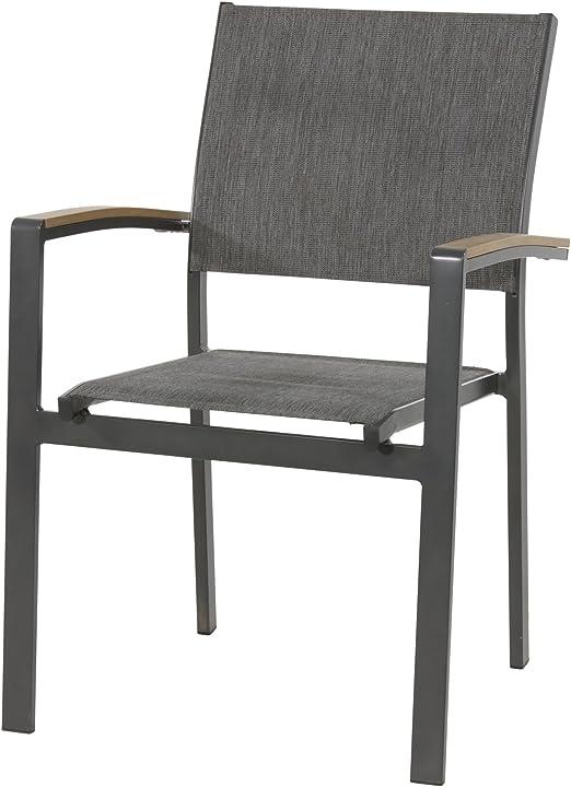 Lesli Living Arezzo Lot de 2 chaises de Jardin empilables en