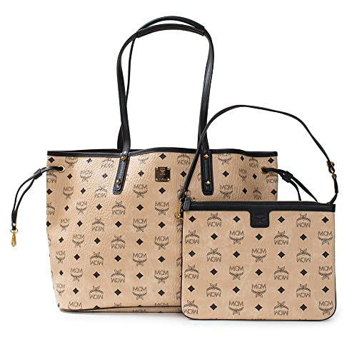 07e1487a5 MCM Shopper Project Visetos Reversible Medium Shopper Tote Beige Bag:  Amazon.ca: Shoes & Handbags