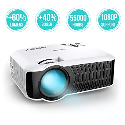 Proyector mini de LED, Abox T22, 2400 lúmenes, compatible con 1080P, resolución