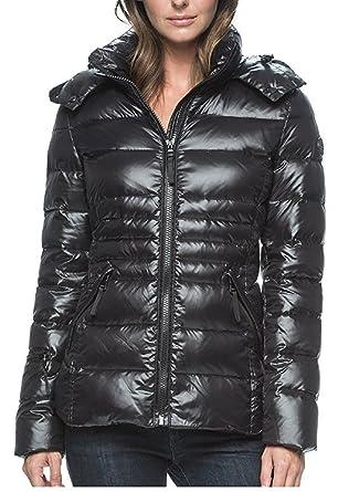 115abd35627 Amazon.com: Andrew Marc Ladies Short Down Jacket, Black, Large: Clothing