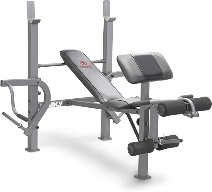 New Fitness Gear Standard Weight Bench SHIPS FAST w leg developer and safety bar