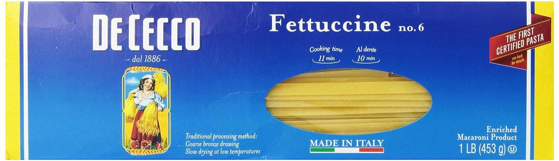 Dececco no.06 Fettuccine - 16 ounce - 20 per case.