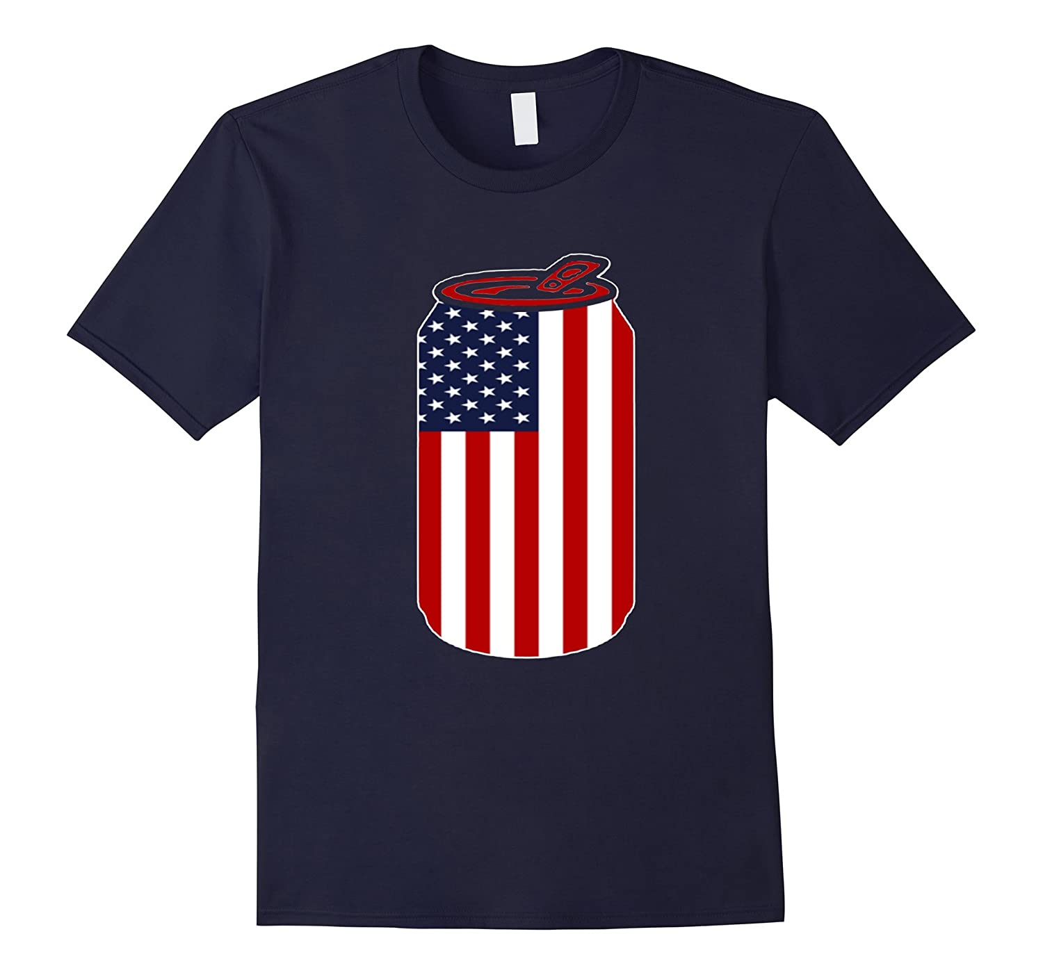4th Of July Beer Can Flag US Flag Patriotic Gift Tshirt-TH