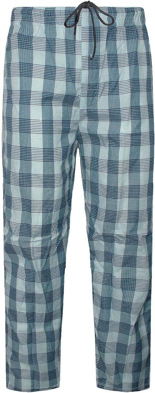 GA Communications Mens Cotton Pyjamas Check Lounge Pants Bottoms Nightwear PJ Loungewear Trousers