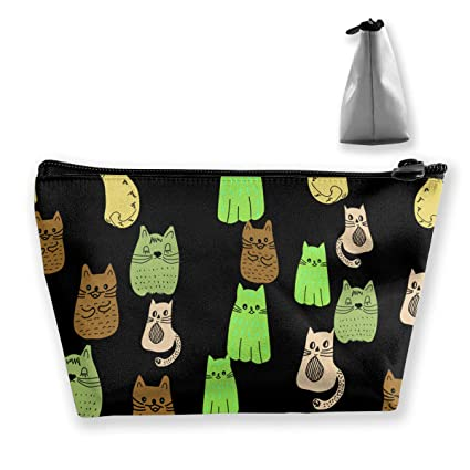 fc0c37bf60 Holderbee Green Cats of Different Shades Cosmetic Makeup Bag Pouch Clutch  Travel Case Organizer