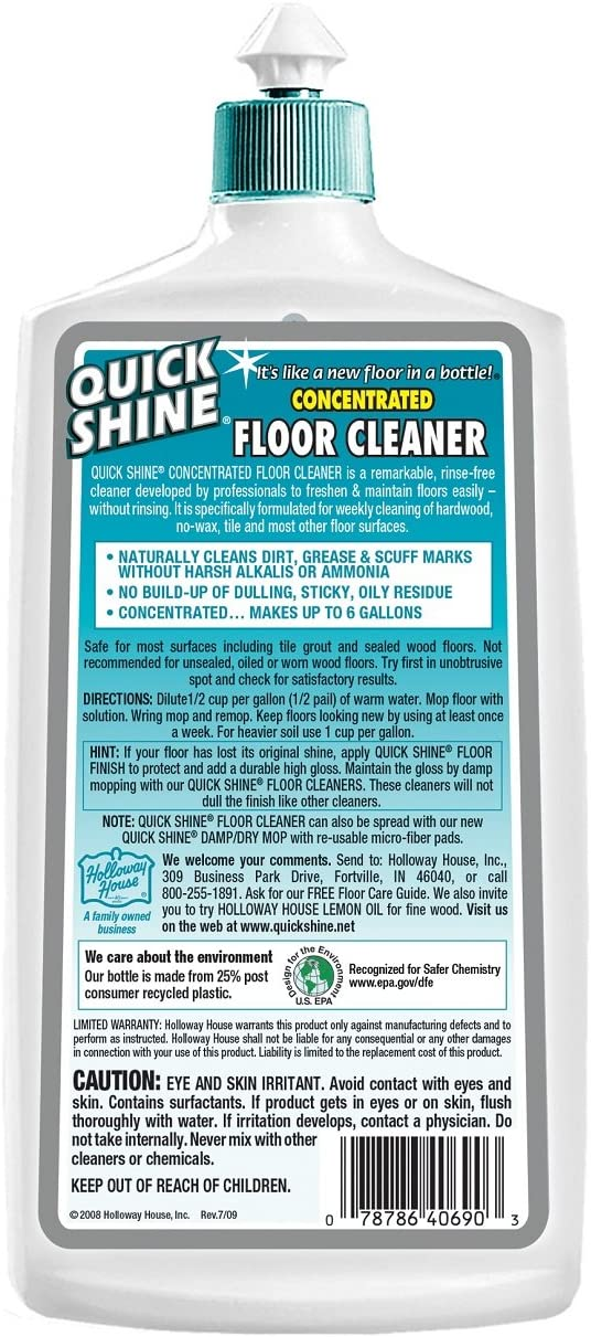 Amazon Com Quick Shine Concentrated Multi Surface Floor Cleaner