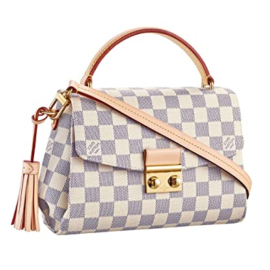 8eb0a4d05580 Louis Vuitton Damier Azur Canvas Croisette Hand Carry Shoulder Handbag  Article N41581 Made in France  Handbags  Amazon.com