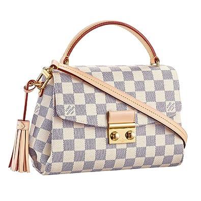 b58a09d770f3 Louis Vuitton Damier Azur Canvas Croisette Hand Carry Shoulder Handbag  Article N41581 Made in France  Handbags  Amazon.com