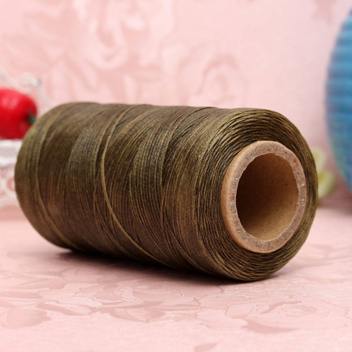 Ledergarn nature en polyester fortement Stick à pour handnähen