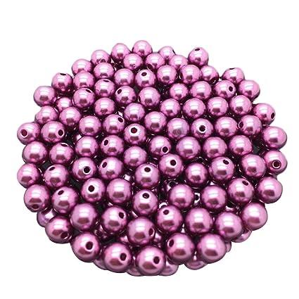 100pcs black imitation pearl round acrylic beads 10mm