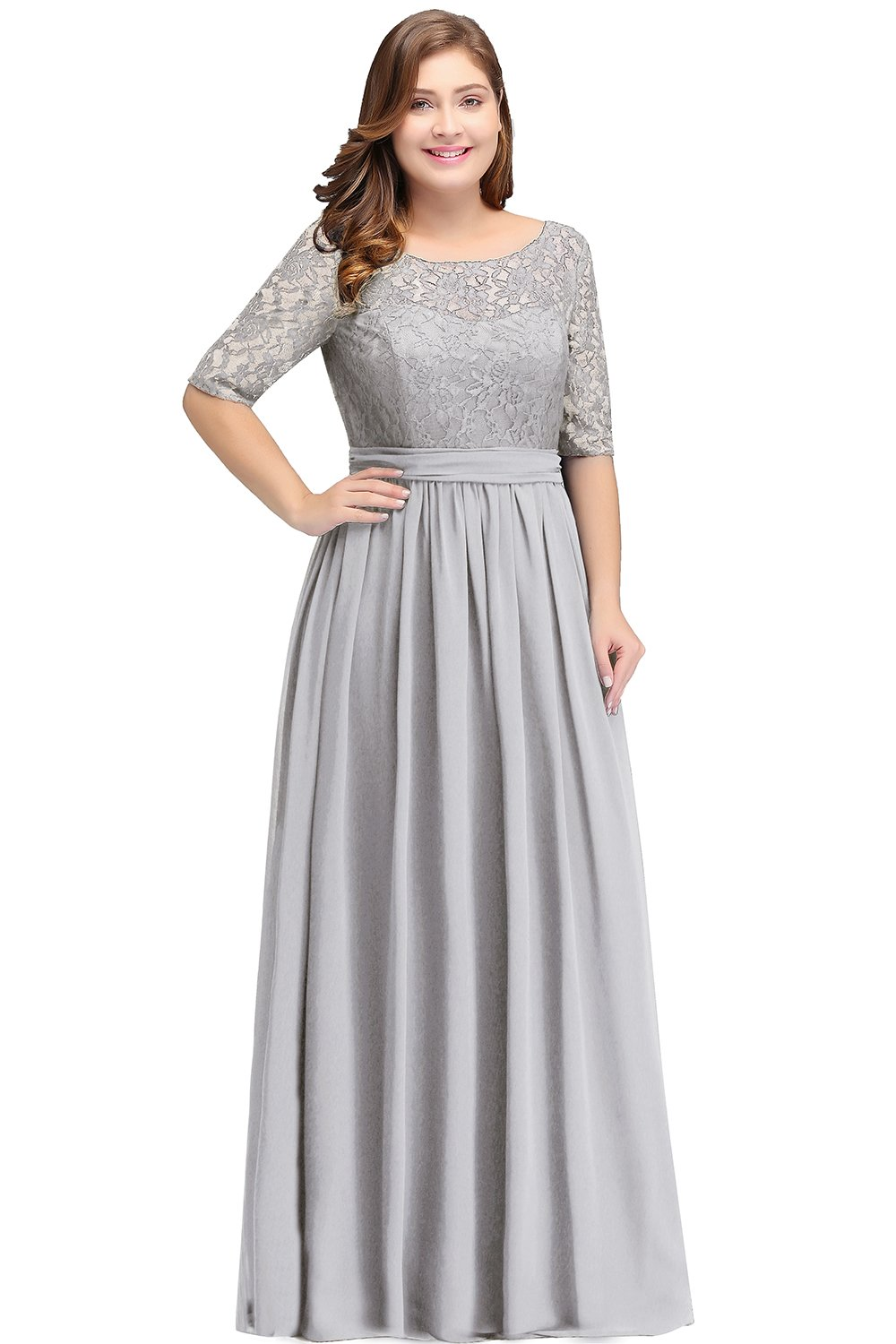 Womens Plus Size Formal Dresses for Ball Party Silver 24W