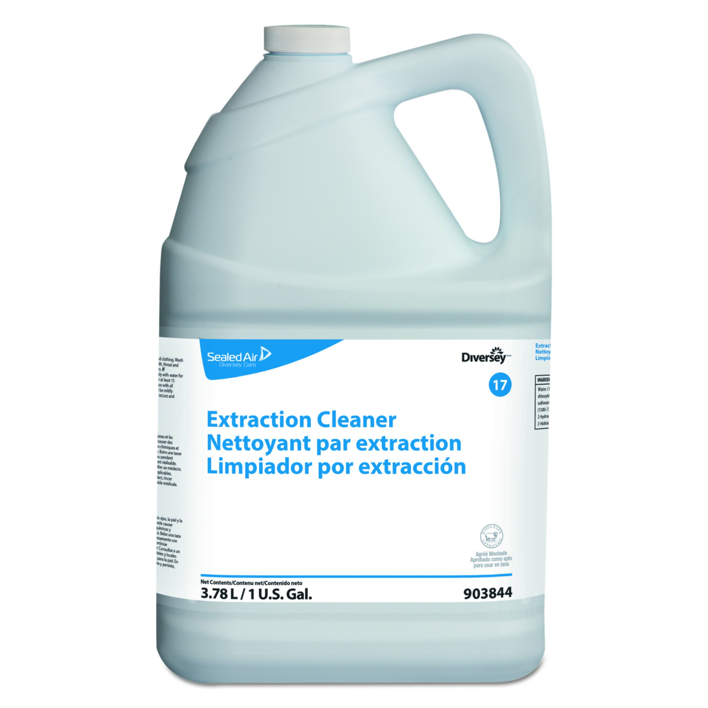 Diversey 903844 Carpet Extraction Cleaner, Floral Scent, Liquid, 1 gal Container (Case of 4)