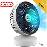 KLIM™ Breeze - High Performance USB Desk Fan - Table Fan - Silent and Adjustable - White [ New 2020 Version ]