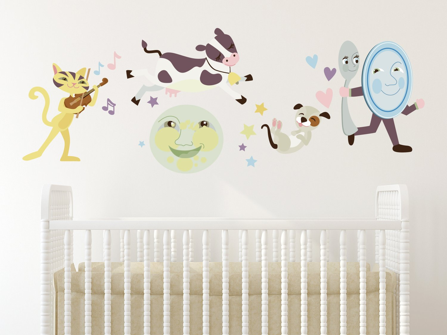 Amazoncom Sunny Decals Nursery Rhyme Fabric Wall Decal Home - Wall decals for nursery