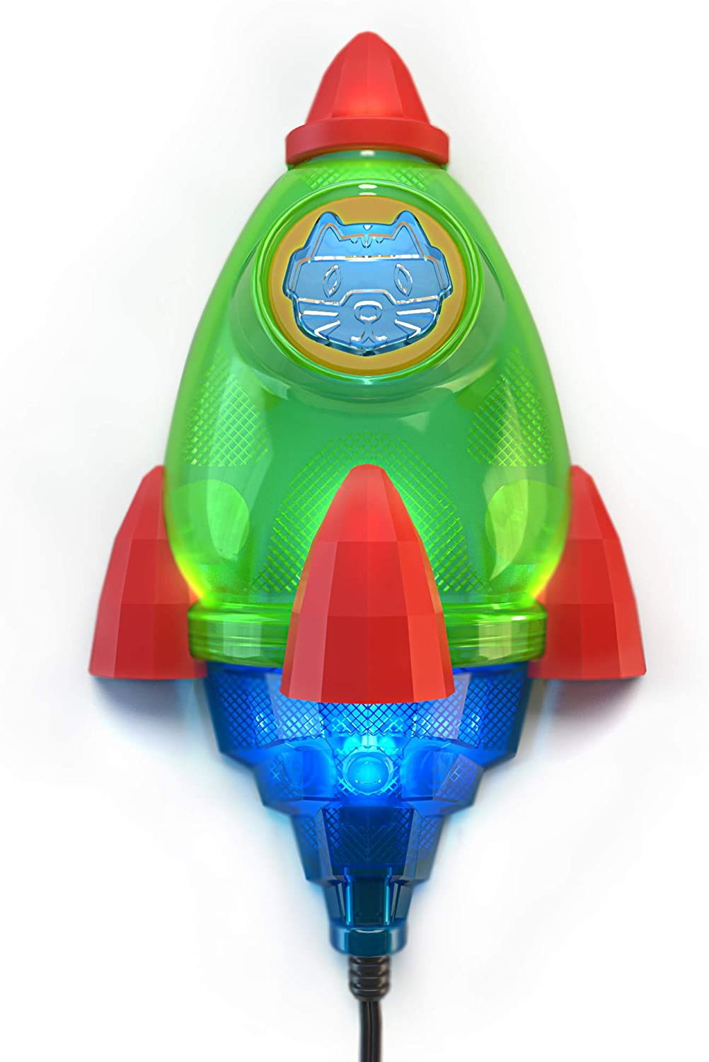 Rocket lamp for kids room, Touch control LED Rocket ship lamp for boys room - Space themed bedroom decor for boys and girls - Rocket night lights for kids
