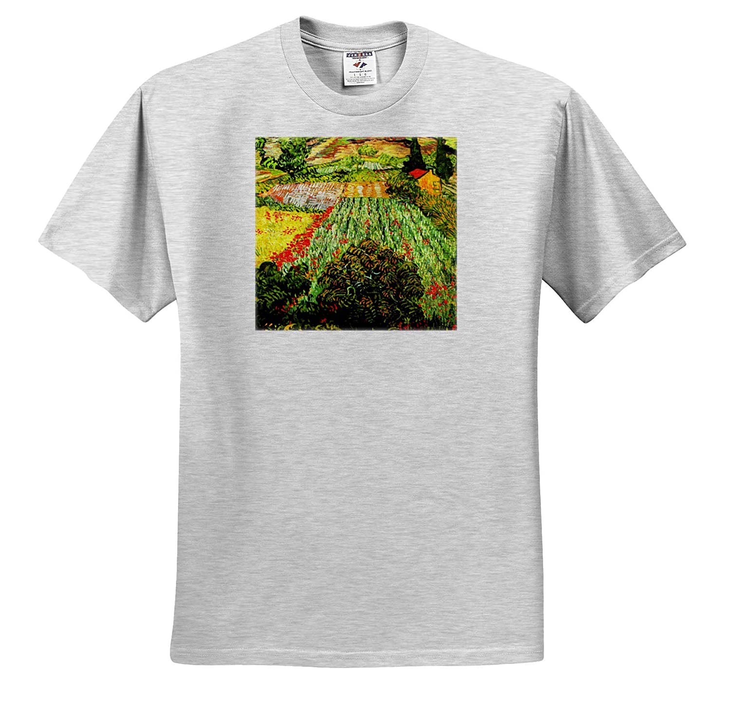 T-Shirts Van Gogh 3dRose VintageChest Field with Poppies Masterpieces