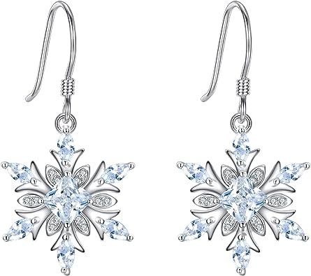 Women Lady Fashion 925 Sterling Silver Zircon Hook Earrings Party Jewellery