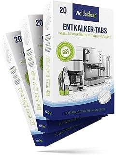 woldo Clean pastillas antical entkalke rtabs para cafeteras automáticas y máquinas de café 60