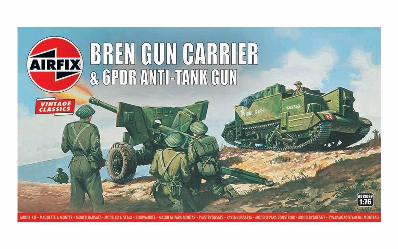 Amazon.com: Airfix Vintage Classics Bren Gun Carrier & 6 PDR ...