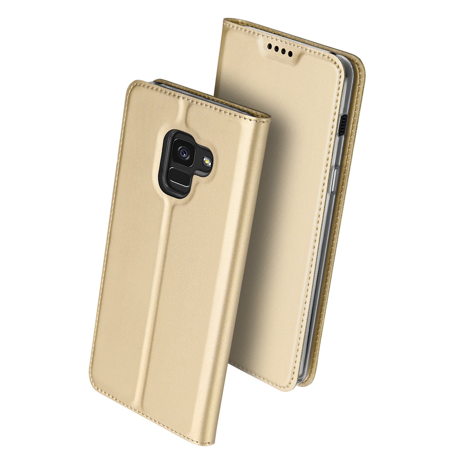 Samsung Galaxy S8 case, coloyanxi&DUX DUCIS Luxury Leather Flip Cover Wallet Phone Case For Samsung Galaxy S8 5.8 inch - Rose Gold