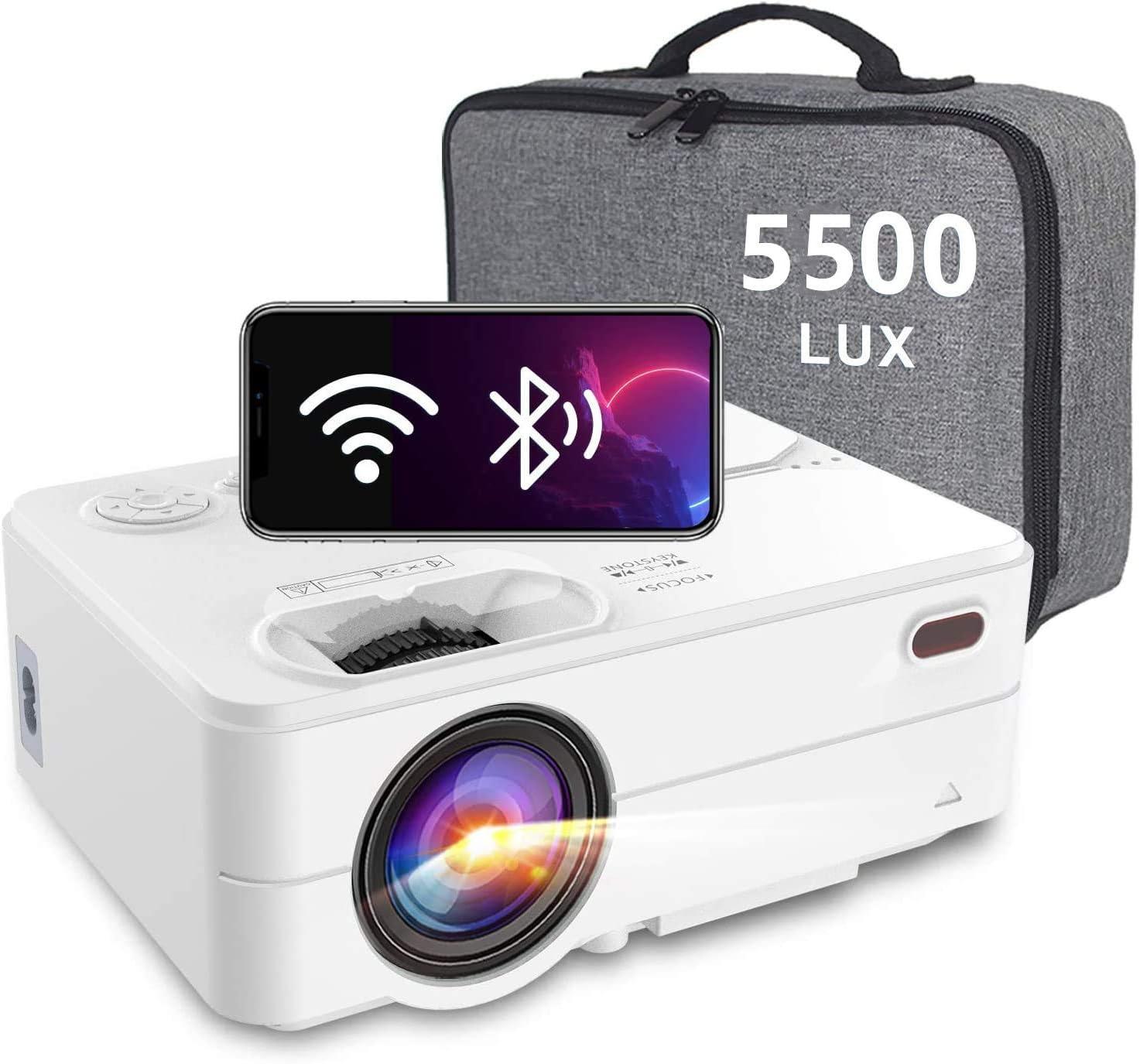 Mini Projector - Artlii Enjoy 2 HD WiFi Bluetooth Projector, 5500L 300