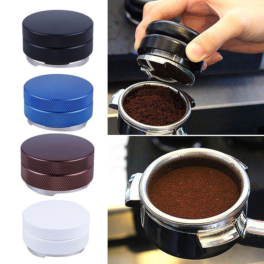 1# Herramienta de distribuidor de caf/é de 58 mm Nivelador de caf/é Base de tr/ébol Manipuladores de palma Distribuidor de caf/é expr/és Macarr/ón Prueba de manipulaci/ón para posos de caf/é expr/és