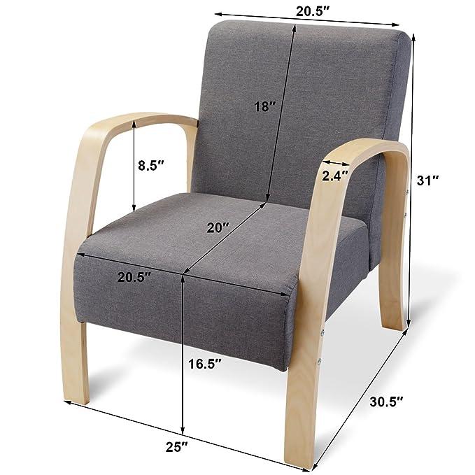 Amazon.com: Giantex - Sillón moderno con estructura de ...