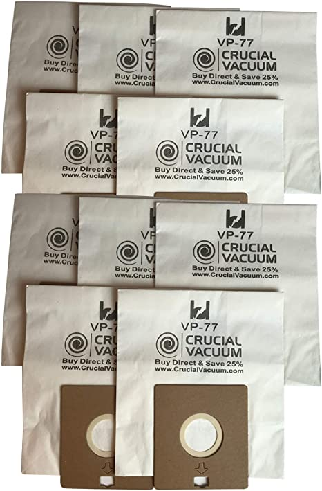 Amazon Com Crucial Vacuum Replacement Vacuum Bags Compatible With Bissell Digipro Vacuums Bag Part Fits Vp 77 Power Partner And Canister Model 6900 67e2 6594 6594f For Parts 32115 Bulk 10 Pack Household Vacuum Bags Canister