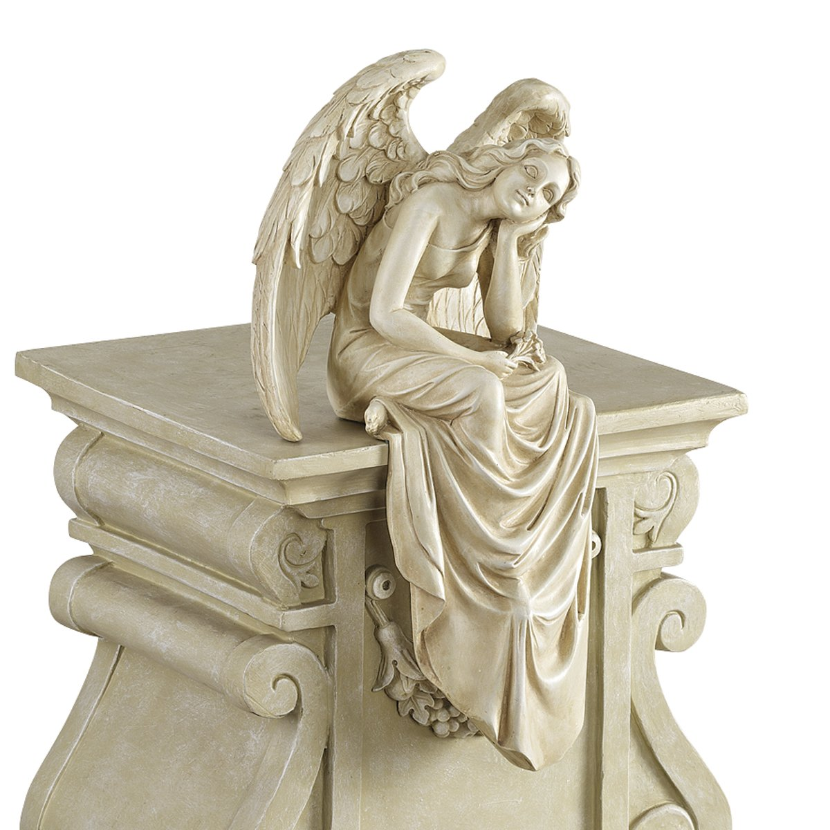 amazoncom design toscano resting grace sitting angel statue size large outdoor statues patio lawn u0026 garden
