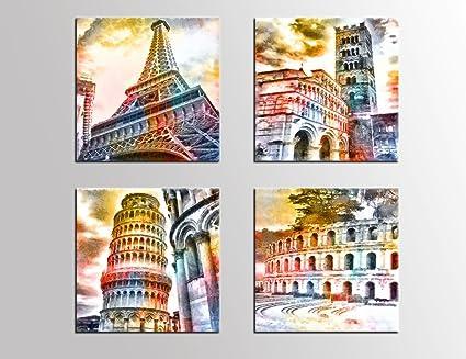 amazon com canvas wall art famous architecture painting building
