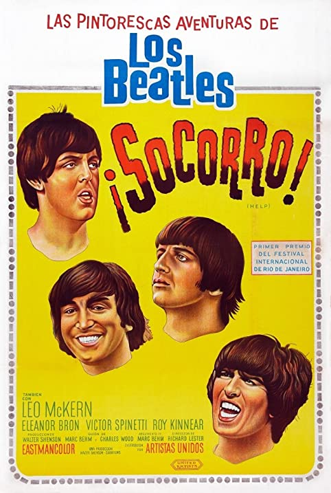 Amazon.com: Help! Argentinean Poster Art The Beatles From Top: Paul ...