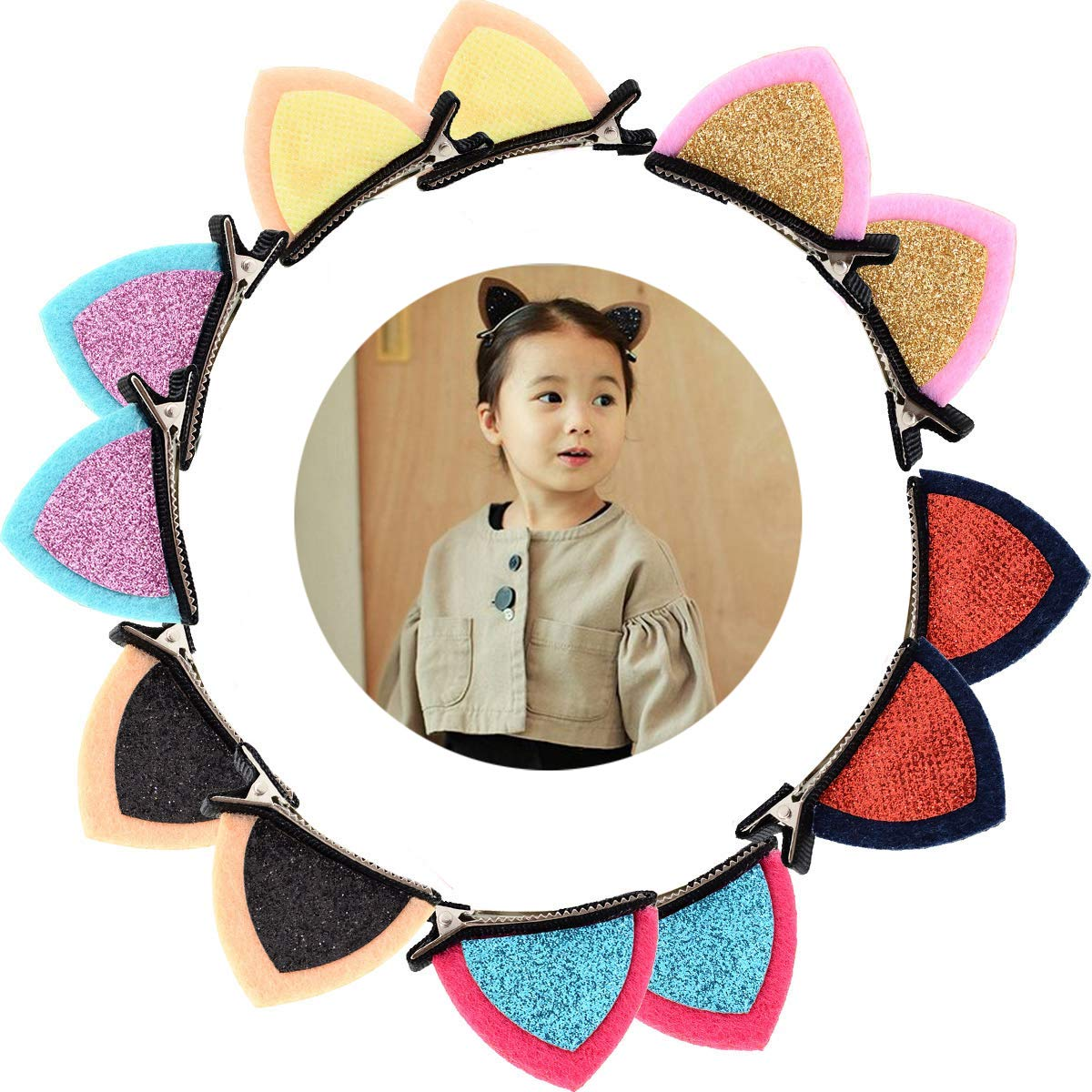 6Pair Cat Ears Hair Accessories Hair Clips For Baby Girls Children/'s Barrettes