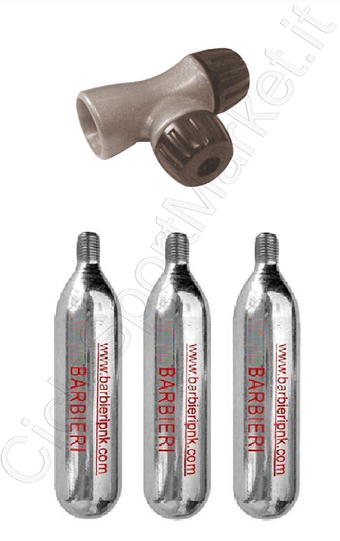 Corsa Rubinetto Erogatore 3 Bombolette Gonfiaggio Co2 aria compressa per bicicletta MTB