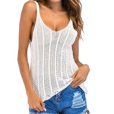 Yoga Tank Top Mujer Camiseta Deportiva para Mujer sin Mangas Camiseta sin Mangas Mujer Camiseta de Tirantes Suaves Camiseta Yoga Mujer,Punto Hueco: Ropa y accesorios