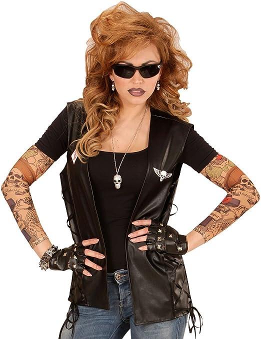 Biker Weste Rocker Lederweste Motorradweste Bikerweste Rockerweste Totenkopf